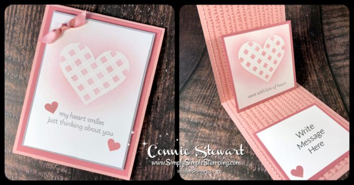 This pop up card ideas is complete with a heart