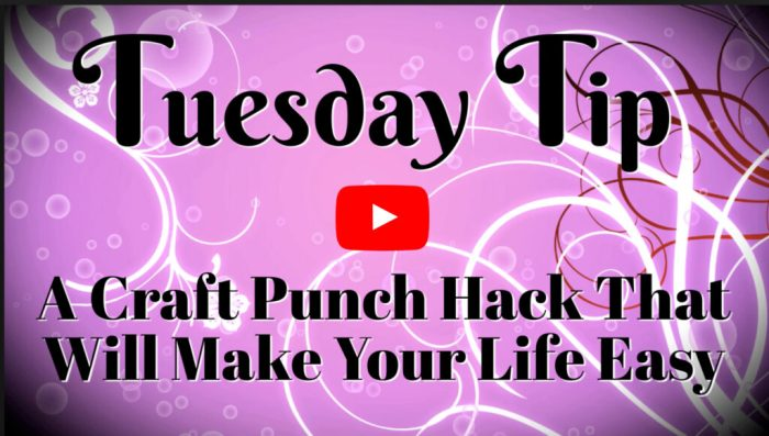 This craft punch hack video tutorial will teach you how to make your own template.