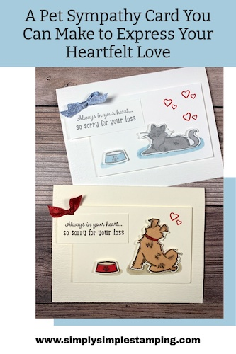 A Pet Sympathy Card You Can Make to Express Your Heartfelt Love