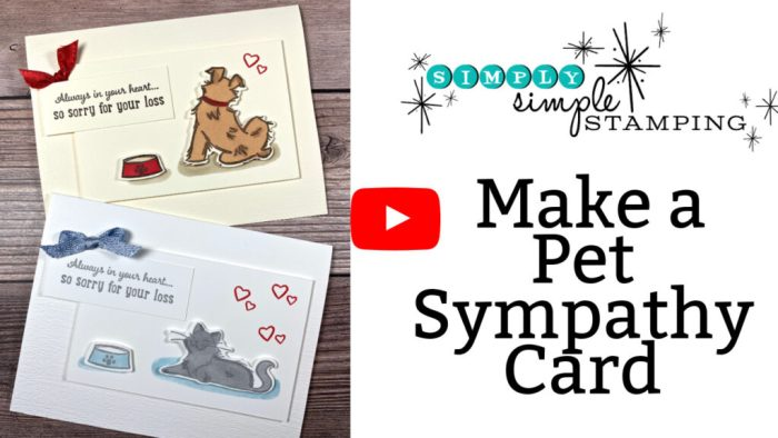 Watch these Pet Sympathy cards you can make to show meaningful care