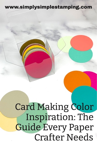 How to store your card making color inspiration circles