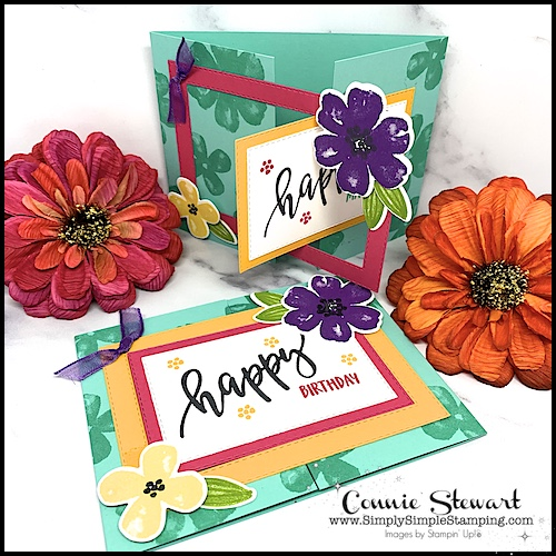 Did you know these pretty perennials are the star of this fun fold card?