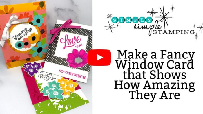 This video tutorial will teach you how to make fancy window cards.