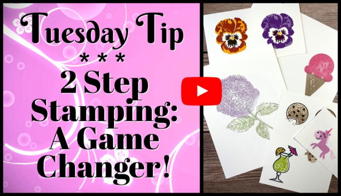 This 2 step stamping video tutorial has loads of tips and tricks
