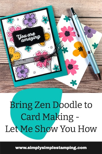 Bring zen doodle to card making, scrapbook pages or other paper crafting projects.