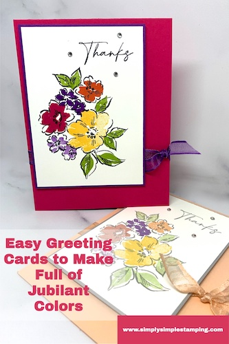 Easy Greeting Cards You Can Make with Jubilant Colors