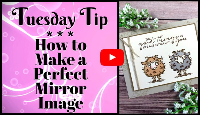 This video tutorial teaches you how stamp a perfect mirror image on a card using the Stampin' Up! Way to Goat stamp set.