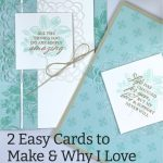 2 Easy Cards to Make & Why I Love the New Square Vellum Doilies
