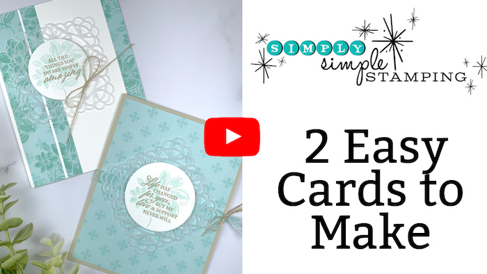 2 Easy Cards to Make Video Tutorial
