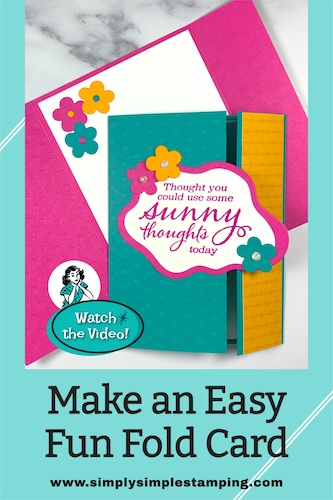 How a Smile Can Start with an Easy Fun Fold Card
