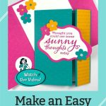 Easy Fun Fold Card Tutorial: The Start Of A Bright Smile