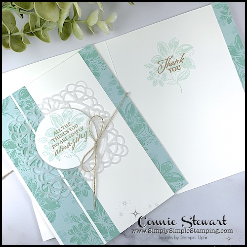 My 2nd easy card to make is a different design idea but still so pretty.