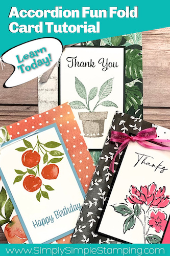 Have You Ever Made An Accordion Fun Fold Card? If Not, Learn How Today!