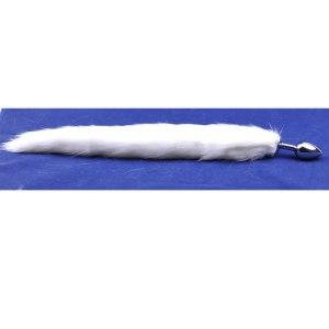Metallic anal plug with tail