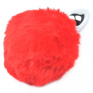 red cosplay bunny tail