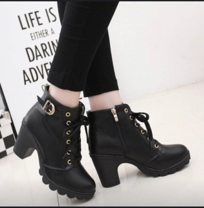 Womens sexy black ankle boot