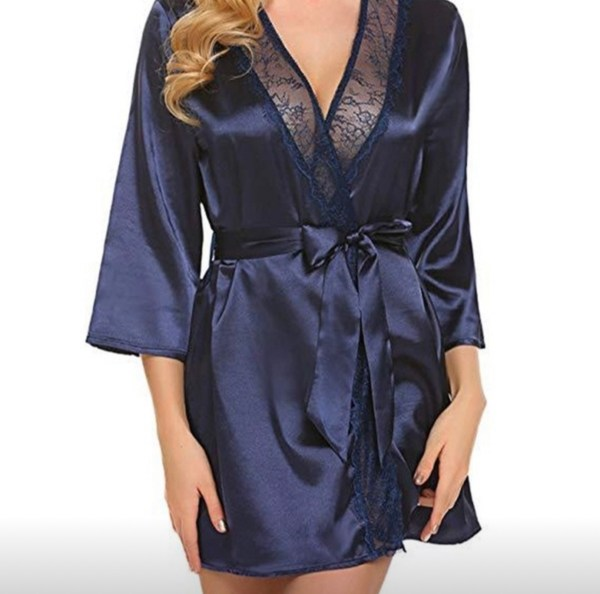 Sexy blue robe