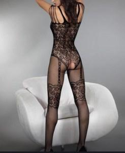 Black bodysuit back view