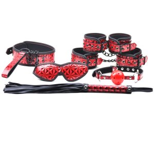 Simply Sinful 6 Piece Red Kinky Couples Kit