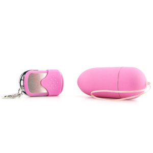 Pink Multi-Speed Key Chain Style Remote Control Egg Vibrator
