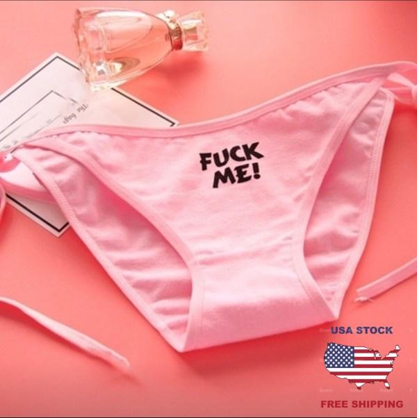 Pink Fuck Me Panties For Women