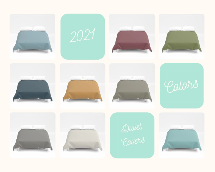 Color of the Year 2021 on Decorative Solid Color Duvet Cover - Bedding - Bedroom Decor