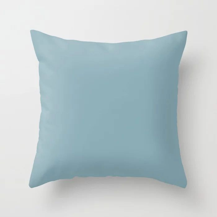 Angel Wings Blue Solid Color Pairs To Valspars 2021 Color of the Year Lucy Blue 5001-5C Throw Pillow.