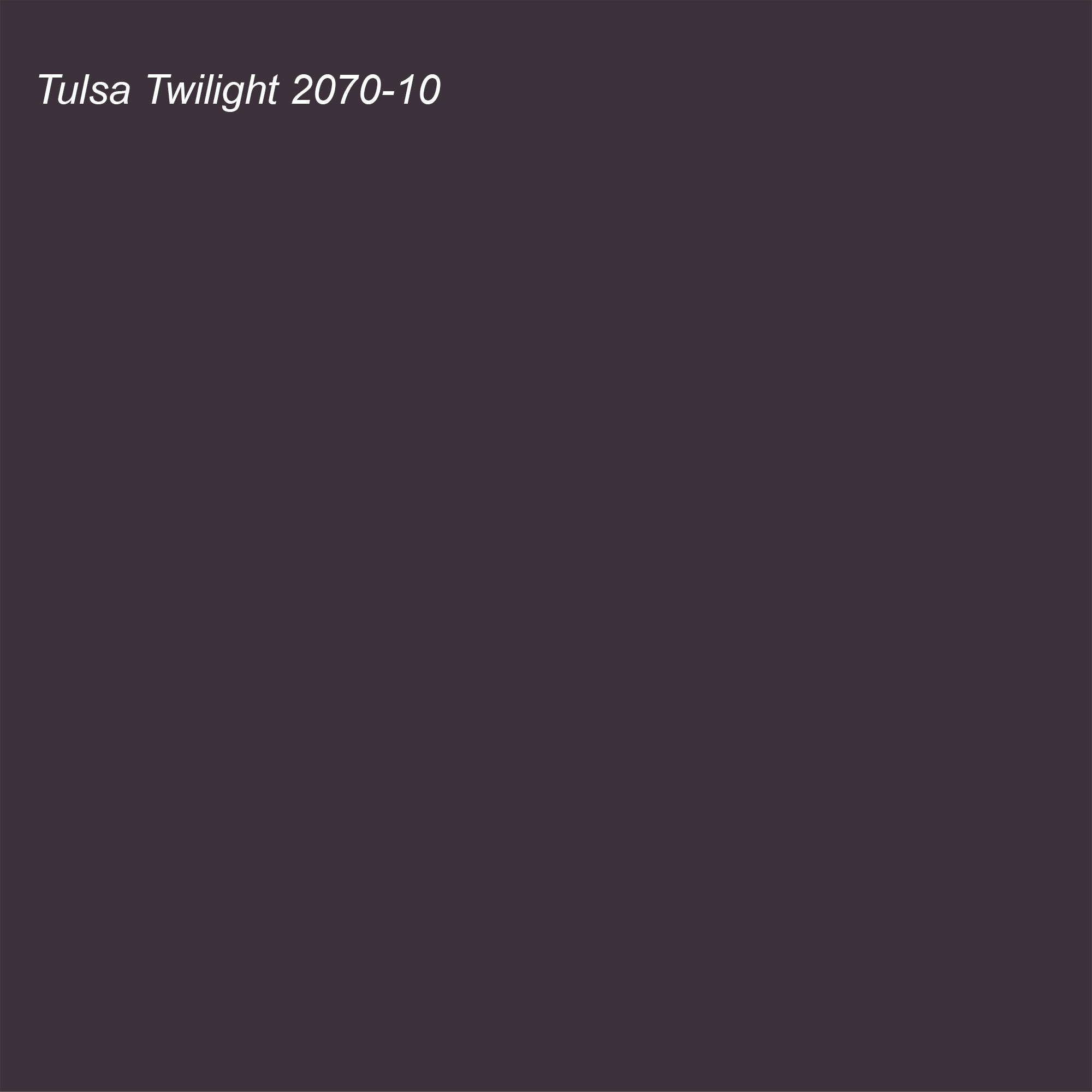 Benjamin Moore 2021 Color of the Year Suggested Accent Shade Tulsa Twilight 2070-10