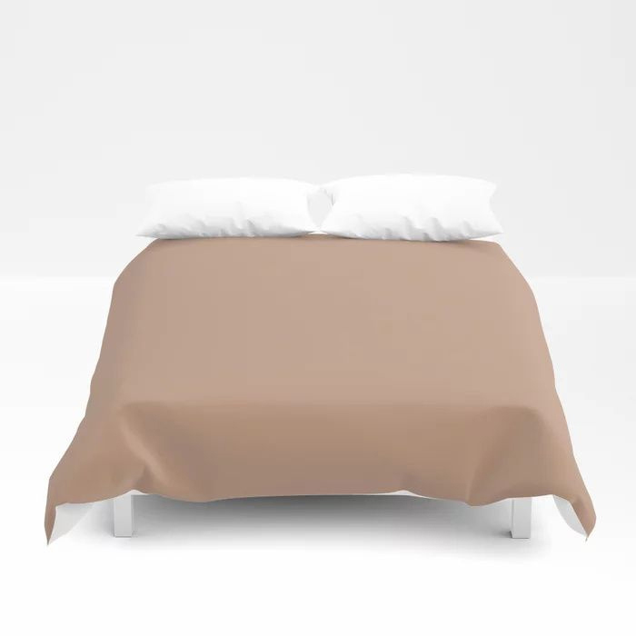 Blush Pink Solid Color Pairs To Behr's 2021 Trending Hue Canyon Dusk S210-4 Duvet Cover