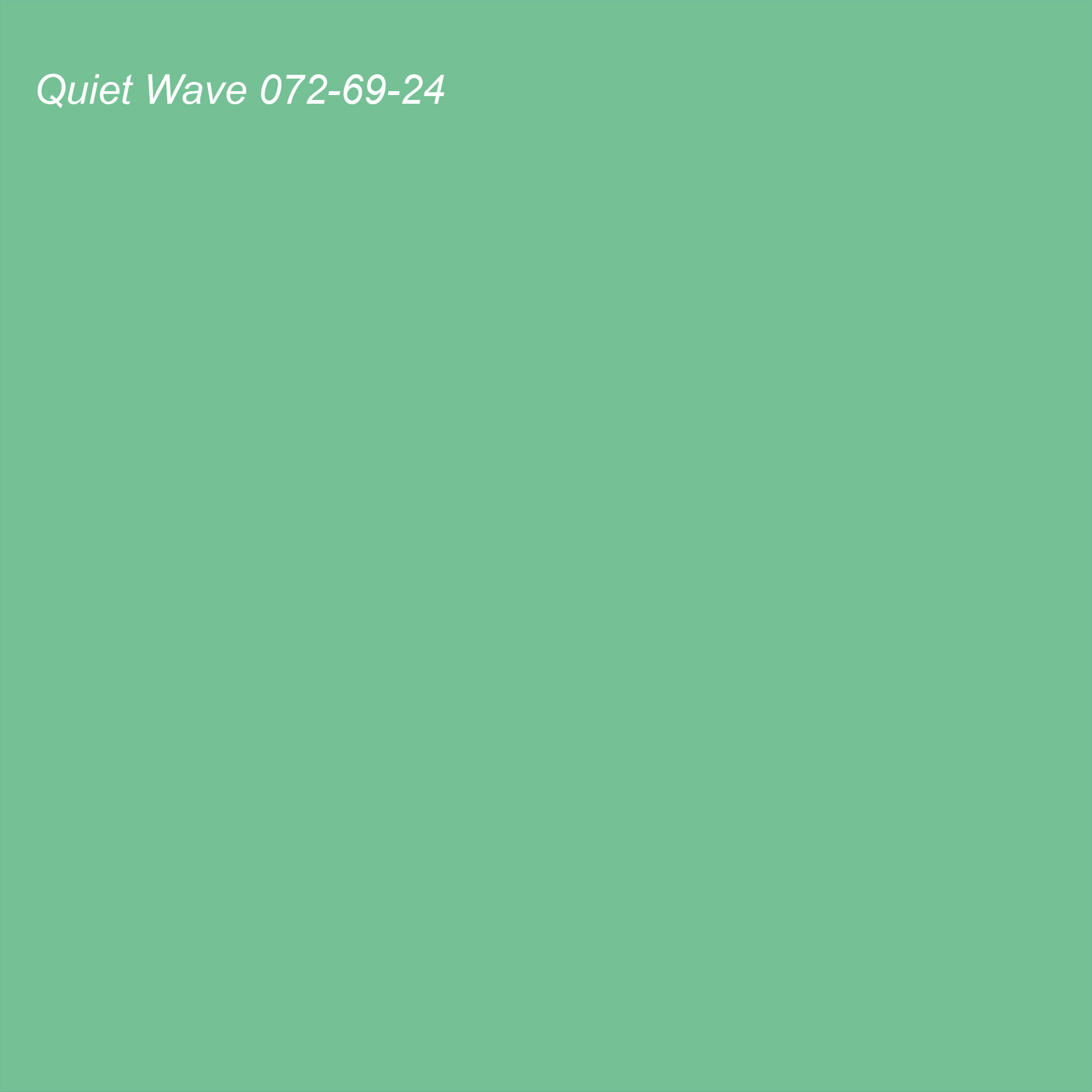 Coloro 2021 Color of the Year Suggested Accent Shade Quiet Wave (green) 072-69-24