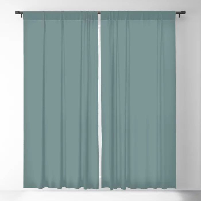 Cool Tropical Blue-Green Solid Color Pairs To Benjamin Moore Aegean Teal 2136-40 2021 Color of the Year Blackout Curtain