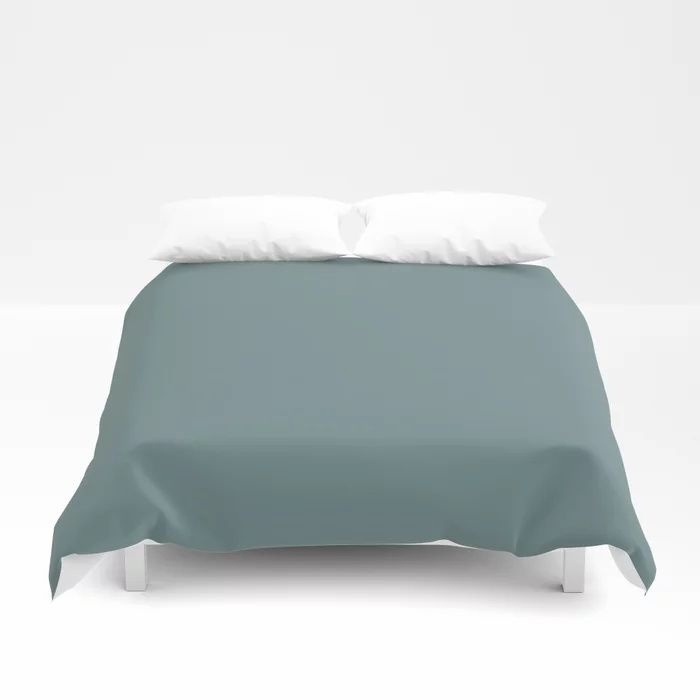 Cool Tropical Blue-Green Solid Color Pairs To Benjamin Moore Aegean Teal 2136-40 2021 Color of the Year Duvet Cover