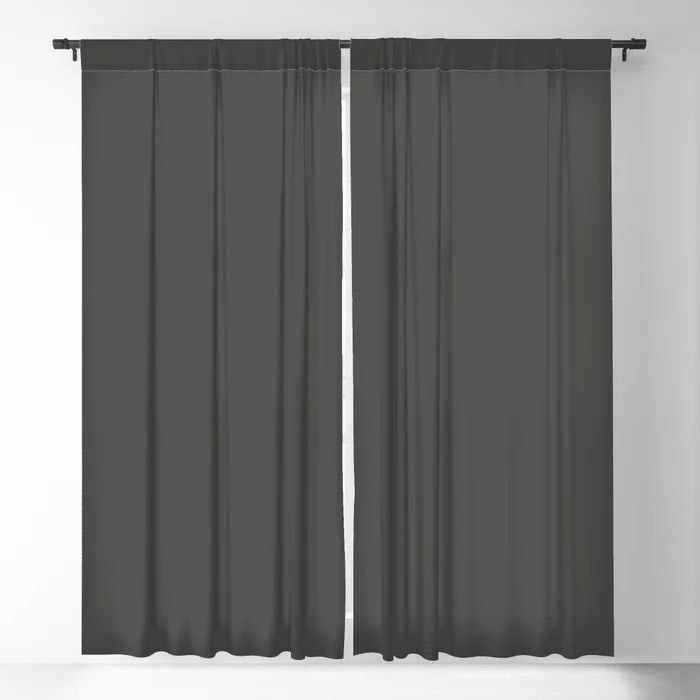 Dark Grey Solid Color Behr's 2021 Trending Color Broadway PPU18-20 Blackout Curtain