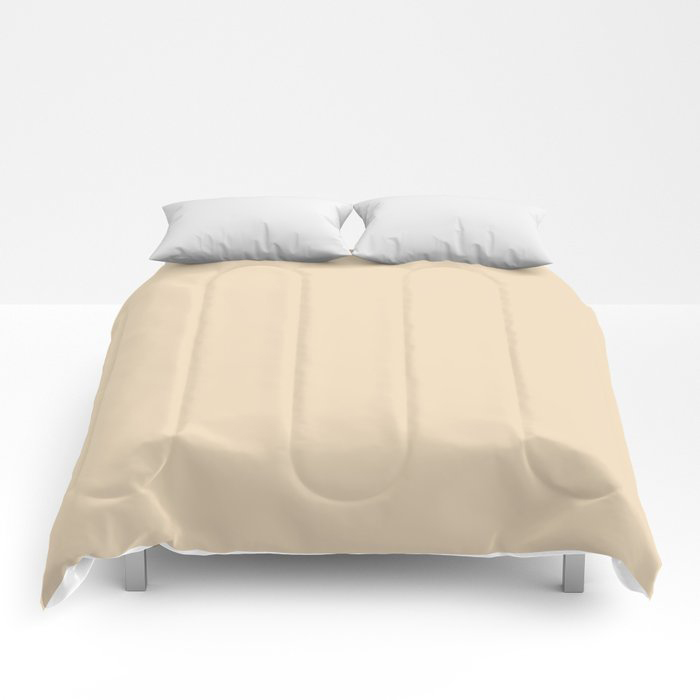 Delicate Pastel Peach Solid Color Pairs To Valspars 2021 Color of the Year Soft Candlelight 3005-6C Comforters