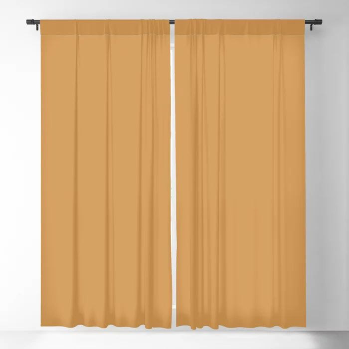 Golden Yellow Sunset Solid Color Pairs To Behr's 2021 Trending Color Saffron Strands PPU6-02 Blackout Curtain