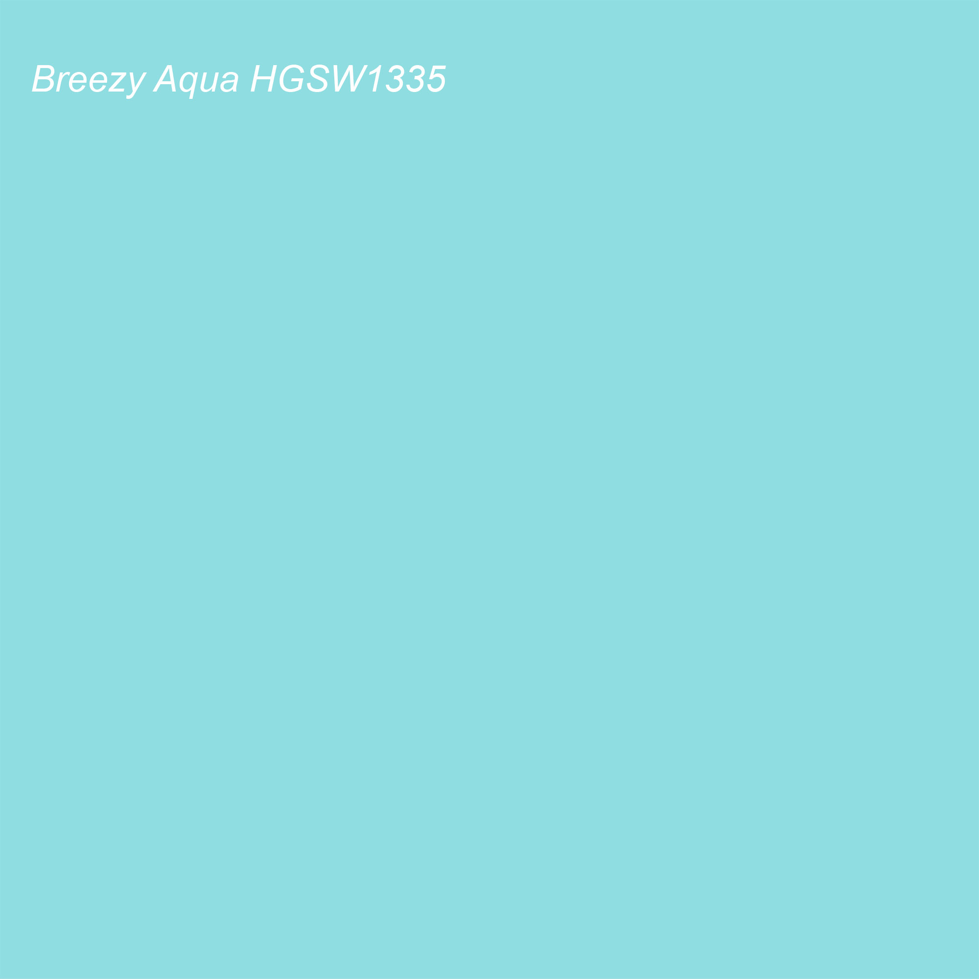 HGTV 2021 Color of the Year Suggested Accent Shade Breezy Aqua HGSW1335