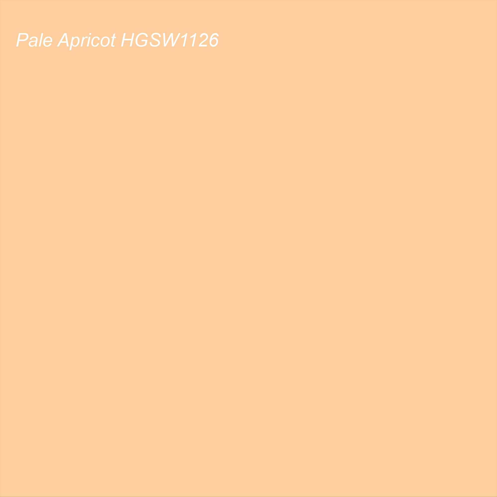 HGTV 2021 Color of the Year Suggested Accent Shade Pale Apricot HGSW1126