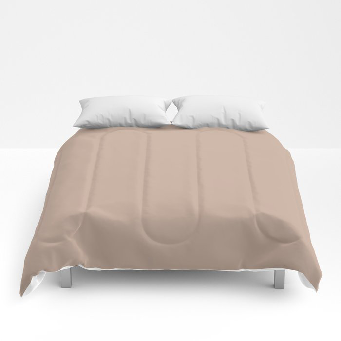 Lace Pastel Pink Solid Color Pairs Farrow and Ball 2021 Color of the Year Dead Salmon No.28 Comforters