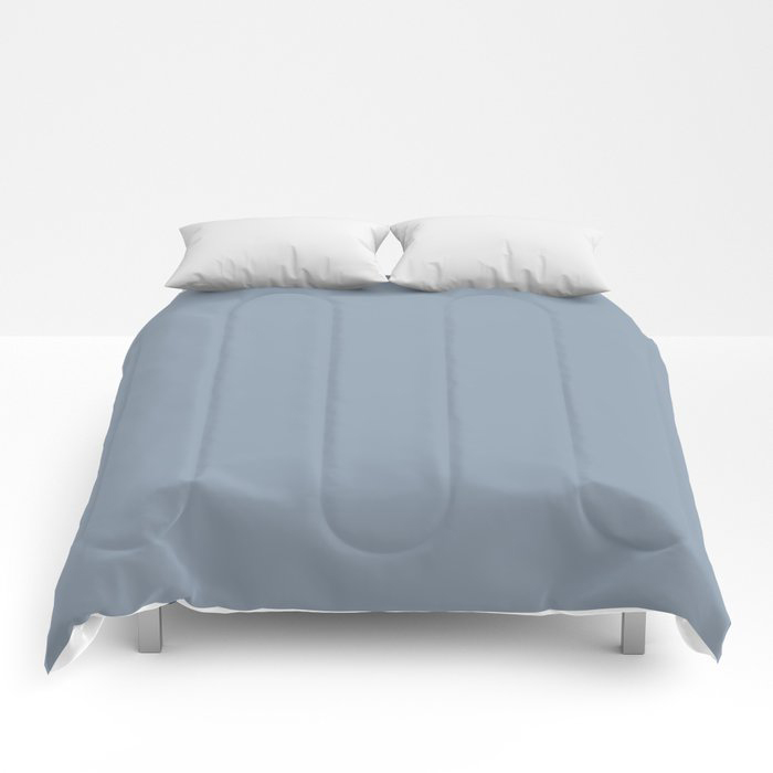 Mid Tone Sky Blue Solid Color Pairs To Valspars 2021 Color of the Year Blissful Blue 4005-3C Comforters