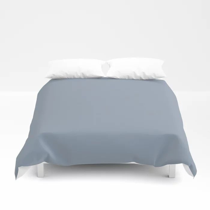 Mid Tone Sky Blue Solid Color Pairs To Valspars 2021 Color of the Year Blissful Blue 4005-3C Duvet Cover