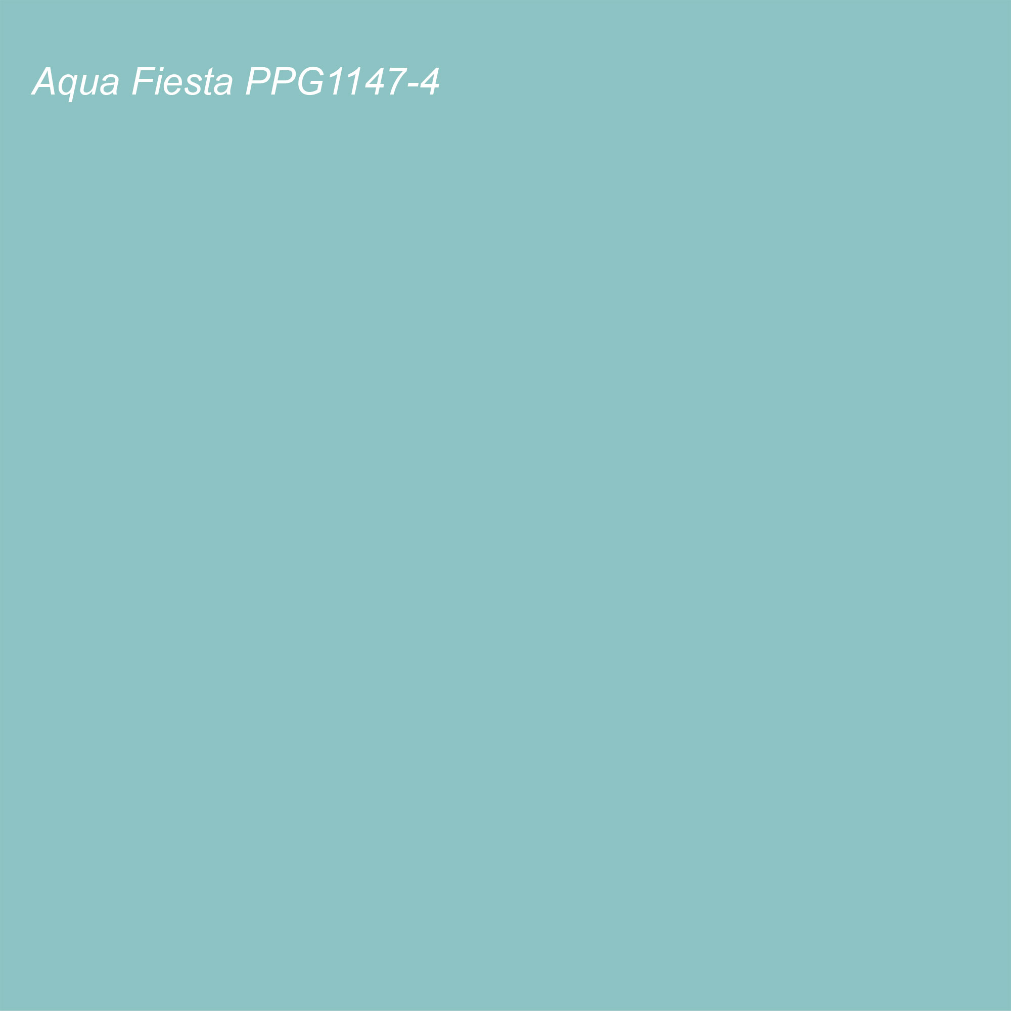 PPG - Glidden 2021 Color of the Year Aqua Fiesta PPG1147-4