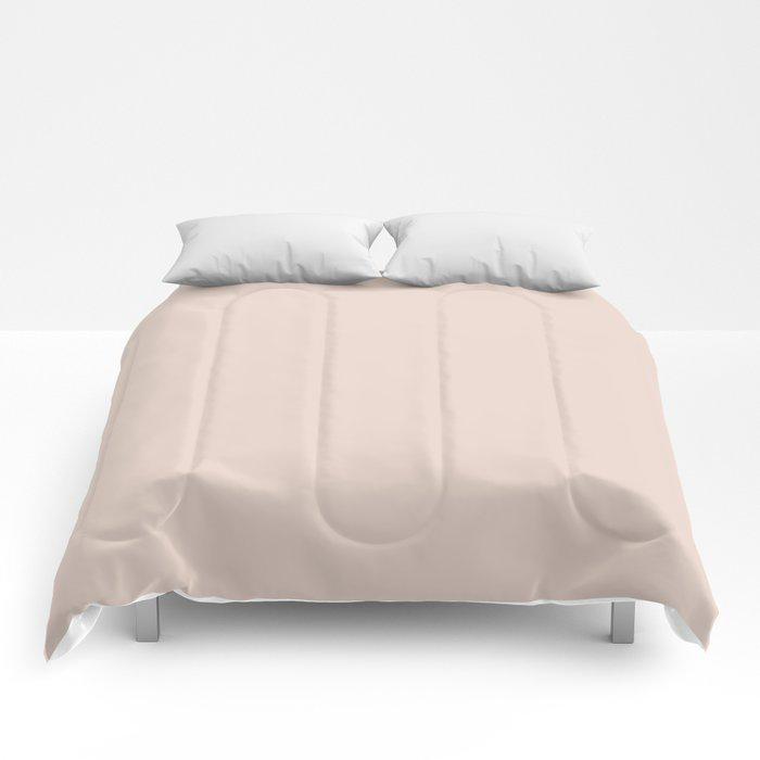 Pale Pastel Pink Solid Color Pairs To Behr's 2021 Trending Color Seaside Villa S190-1 Comforters