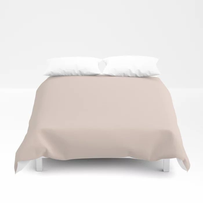 Pale Pastel Pink Solid Color Pairs To Behr's 2021 Trending Color Seaside Villa S190-1 Duvet Cover
