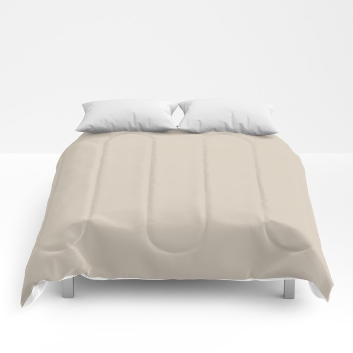 Pale Taupe Solid Color Pairs To Behr's 2021 Trending Color Almond Wisp PPU5-12 Comforters