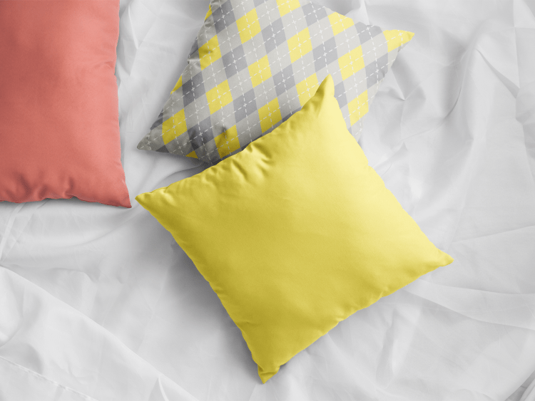Pantone 2021 Color Of The Year Illuminating 13-0647 Yellow & Ultimate Gray 17-5104 on Home Décor 2