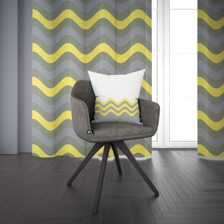 Pantone 2021 Color of the Year Illuminating 13-0647 yellow and Ultimate Gray 17-5104 plus matching home decor