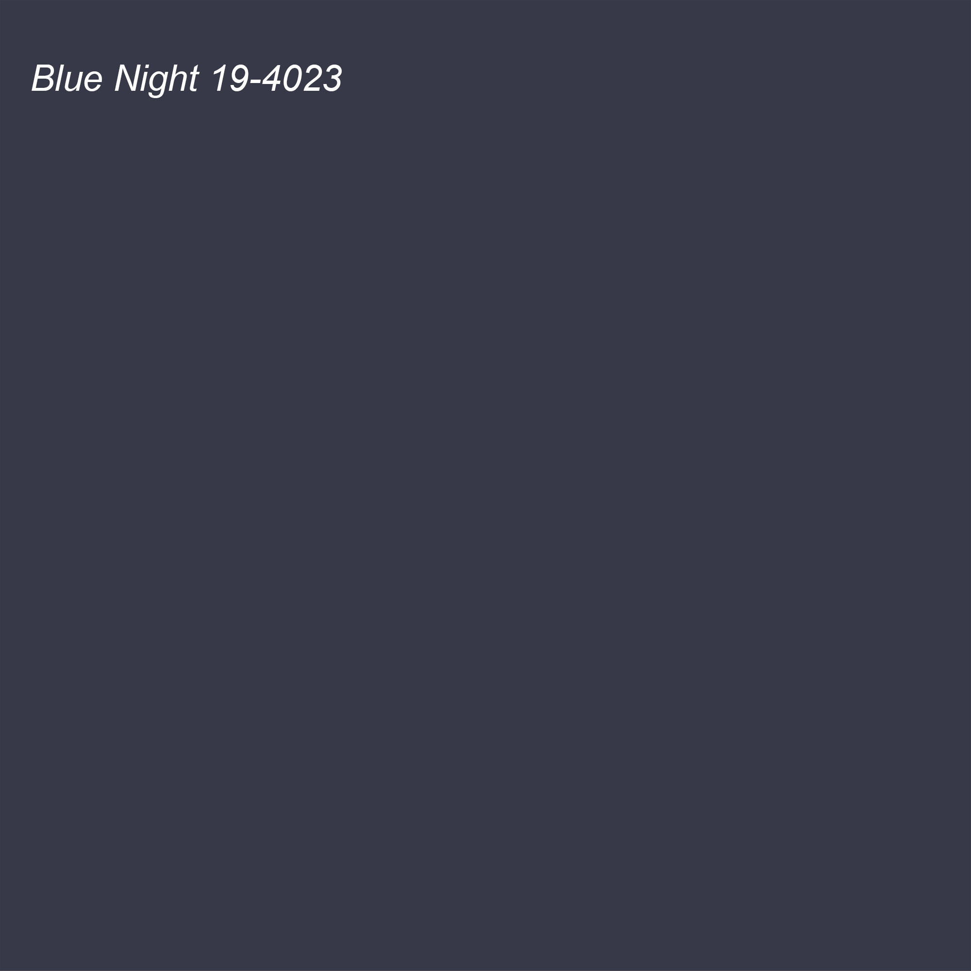 Pantone 2021 Color of the Year Suggested Accent Shade Blue Night 19-4023