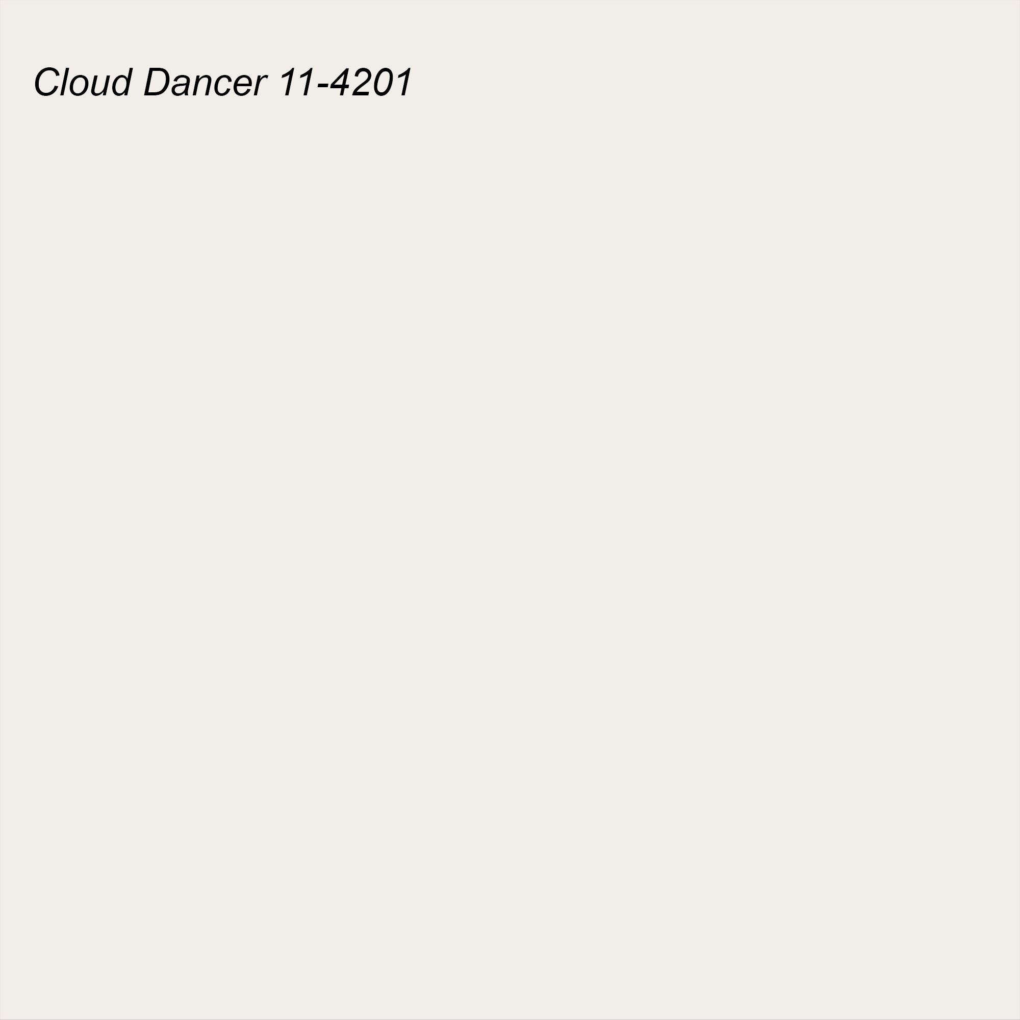 Pantone 2021 Color of the Year Suggested Accent Shade Cloud Dancer 11-4201