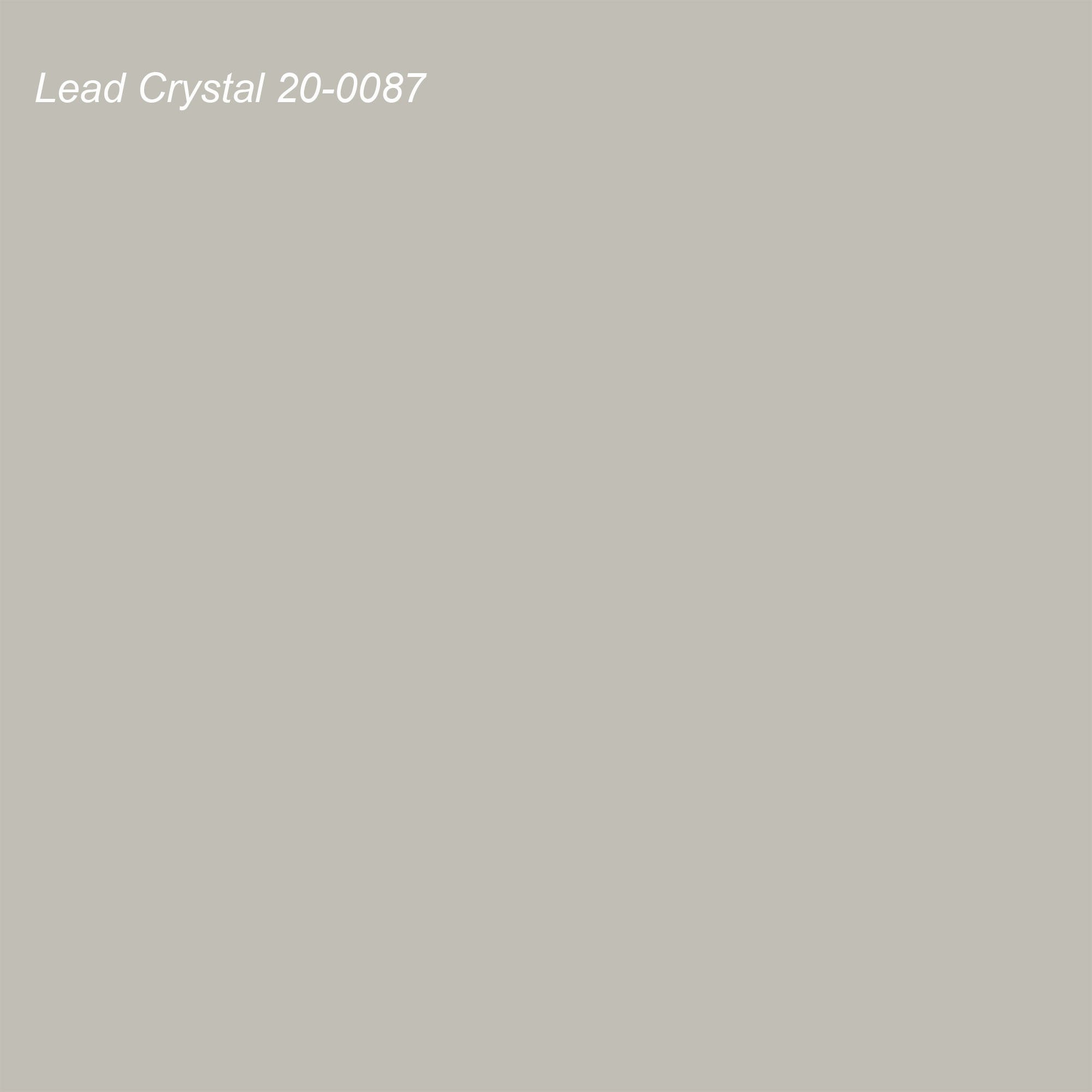 Pantone 2021 Color of the Year Suggested Accent Shade Lead Crystal 20-0087