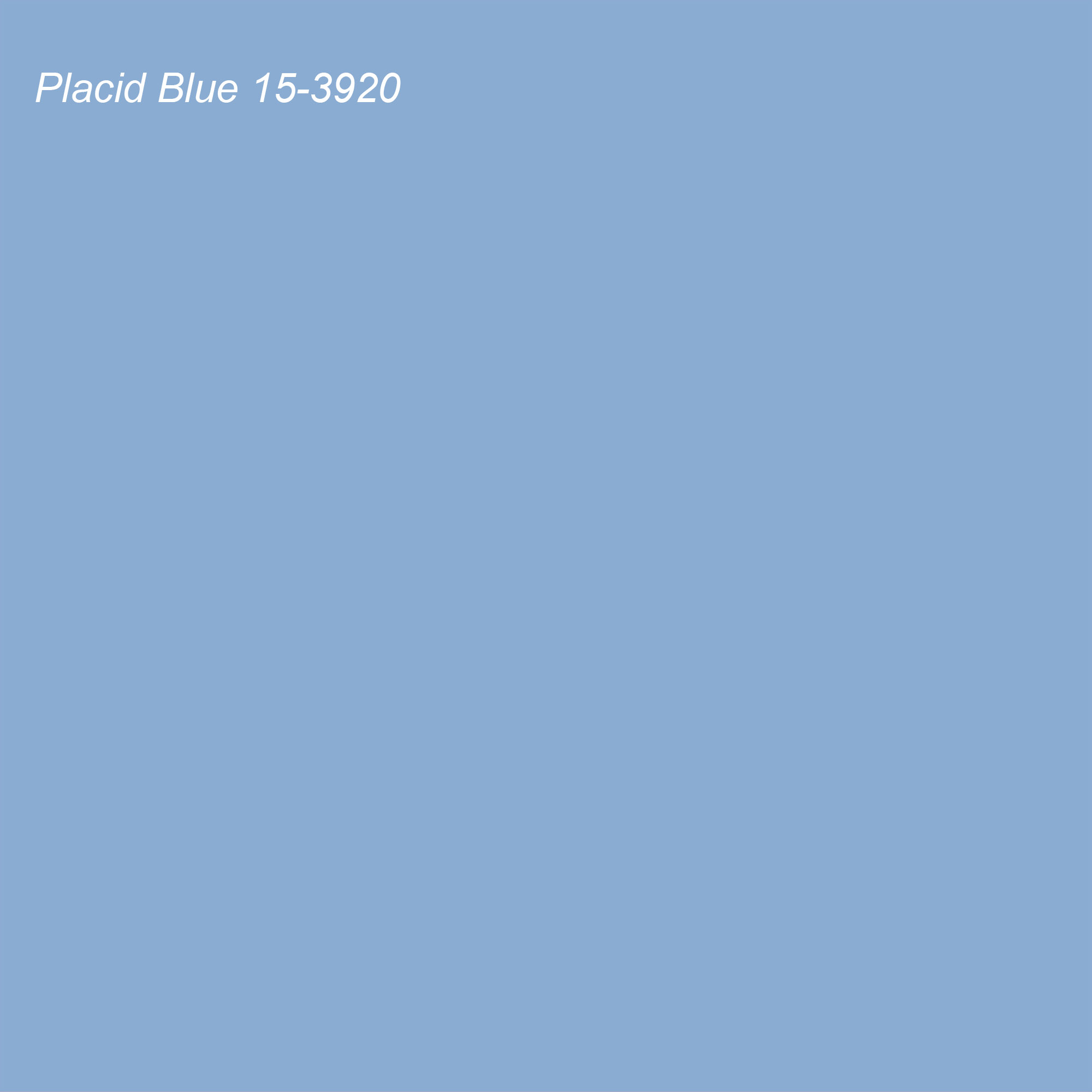 Pantone 2021 Color of the Year Suggested Accent Shade Placid Blue 15-3920